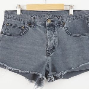 BDG Urban Outfitters Destructed Black Jeans Short